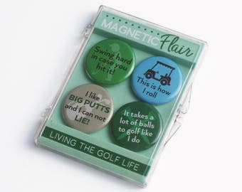 Fathers Day Gifts,Golf Magnet Set, Golf Gifts, Golf Magnets,Funny Golf Gifts,Gifts for Golfers,Funny Magnets,Fridge Magnet,Office Decor M022