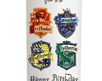 Personalised Harry Potter Candle Birthday Gift Keepsake 18 21 30 etc Gryffindor, Ravenclaw, Hufflepuff, Slytherin