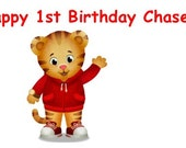 25 Daniel the Tiger Birthday Waterproof Water Bottle labels - actual labels not a file  - personalized