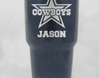 20 30 oz yeti or rtic Dallas Cowboys personalized custom cups  stainless or powder coated