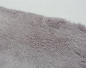 Silver Seal Faux Fur Fabric