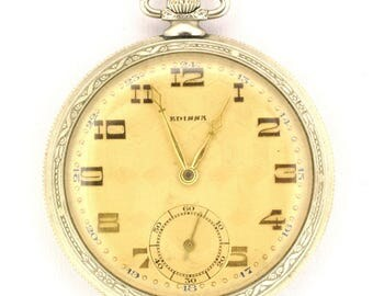 Edissa Vintage Pocket Watch: Working Condition, Vintage Collectable