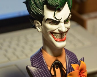 Joker bust painted