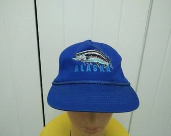 Rare Vintage FISH ALASKA Cap Hat Free size fit all