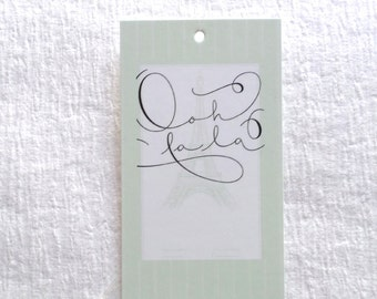100 FASHION TAGS CLOTHING/Accessories Boutique Price Tags  Cute Ooh La  La Retail Tags with  Plastic Loops