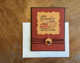 Good Friends Don't Spill the Beans Card