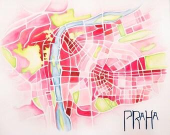Watercolor Map PRINT