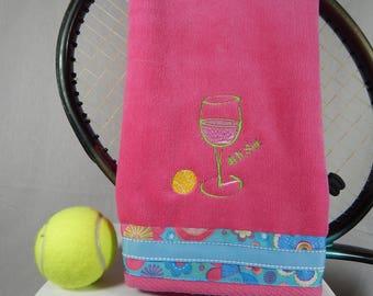 4th set Hot Pink Tennis Towel