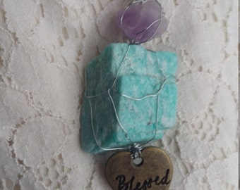AmBelleshment - Blessed - Amazonite necklace