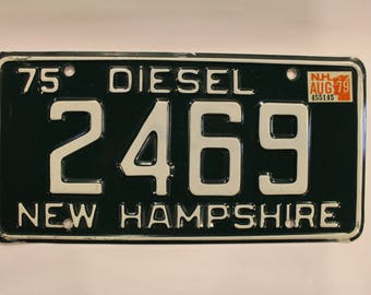 1979 New Hampshire Diesel License Plate