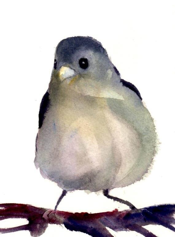 King Bird - signed print - watercolor - Bonnie White - B White - art - painting - wall art