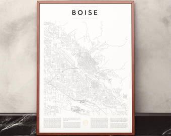 Boise Map Print