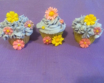 Gumpaste Flowers -Cake Decorations/ Cupcake Toppers