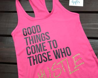 Hustle Shirt | Workout Shirt | Mother Hustler | Gym Shirt | Slogan Tee | Hustle | Muscle Tank |  For The Gym | Fitness Gift | Hustle Tee