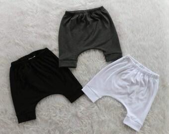 3/4 Length Harem Pants Baby Harem Pants Toddler Harem Pants Baby Pants Hipster Baby Clothes Toddler Joggers Baby Joggers Baby Leggings