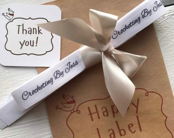Custom fabric real cotton Labels | Labels for Knitting | Cotton Label Ribbon | Cotton Ribbon | Sewing Label | Textile Tag | Organic Cotton