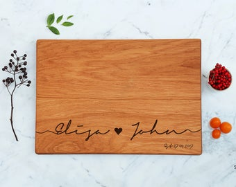 Wedding Gift Cutting Board His & Her Gifts Anniversary Gift Established Gift For Couple, Handmade Women Home Gifts Engagement Gift For Men