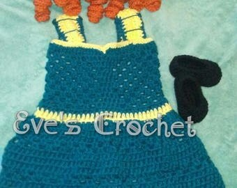 Baby Merida brave crochet costume