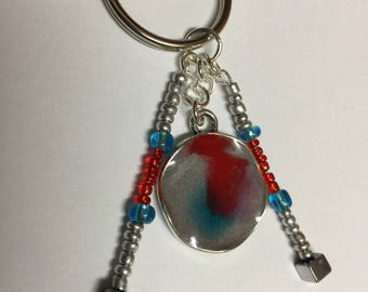 Boldness, Resin Charm Keychain, Small Resin Pendant, Beads, Keychain, Resin