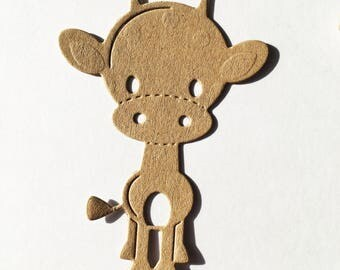 Ten die cut giraffe silhouttes, card making, table scatter and scrapbook smash books