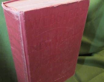 1960 ** Websters New World Dictionary College Edition ** Websters ** Thumb Indexing ** sj