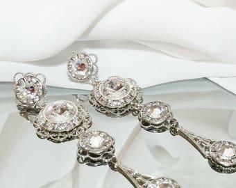 Wedding bridal Earrings, wedding jewelry,  Bridal Jewelry, Brides Earrings, Bridal Sets, brides jewelry, crystal earrings