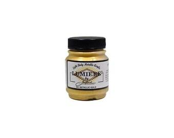 Lumiere Metallic Gold Paint - Jacquard Lumiere Paint - Gold Lumiere Paint - Lumiere Gold acrylic paint - Metallic Gold Acrylic - 13-056