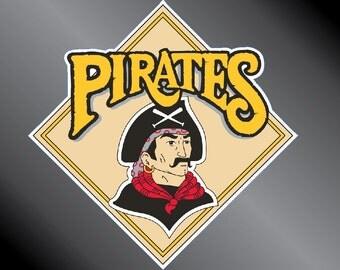 Pittsburgh Pirates 87 Retro Vinyl Decal Sticker