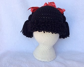 Cabbage Patch Kid Hat for Baby to Adult/Cabbage Patch Wig Hat/Cabbage Patch Hat/Crochet Hat/Crochet Baby Hat/Crochet Child Hat/Gift for Baby