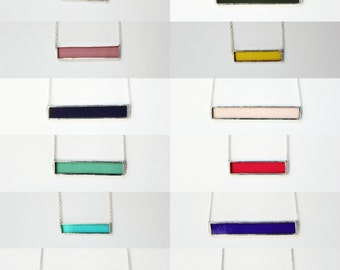 Classic Stained Glass Bar Necklace