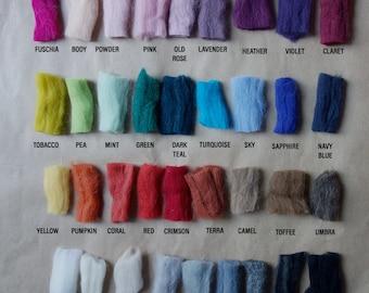 CHUNKY YARN colour chart, colour samples, giant yarn, merino yarn