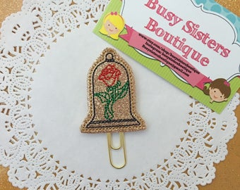 Planner clip - beauty rose