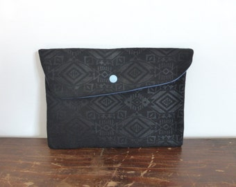 Glasgow asymmetrical sleeve quilted black ethnic cotton