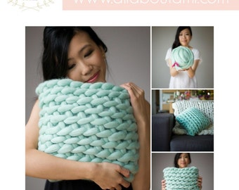 Kit - All About Ami Extreme Crochet Cushion - Everything you need to make this cushion in your choice of colour, complete kit with Pattern