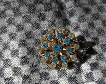 Vintage starburst rhinestone brooch