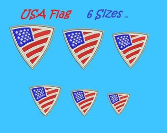 USA flag embroidery designs aplique Unites States Flag design embroidery machine