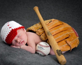 Newborn Baby Baseball Hat | Baby Baseball Cap | Photography Prop | Newborn Photography | Newborn Baseball Photos