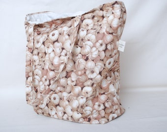 Garlic Fabric Tote Bag Perfect for Farmers Market Shopping