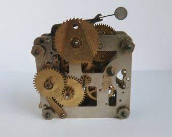 Vintage Clock Steampunk Supply Watch Gears Parts Supplies Assemblage Art