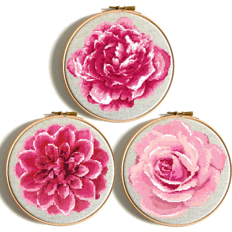 Rose cross stitch wedding cross stitch rose flower cross stitch this is a digital file nvjuhfo Gallery