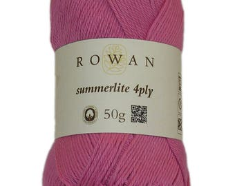 Rowan Summerlite 4ply yarn made with egyptian cotton 50g ref 9802179