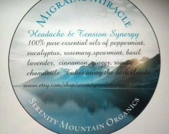 Migraine Miracle Organic Headache & Tension Essential Oil Synergy