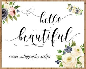 Calligraphy Swirly Digital Font Handwritten digital font download swash modern calligraphy font bundle invitations, wedding, Cricut font