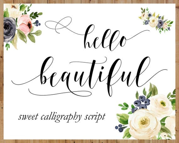 Calligraphy Swirly Digital Font Handwritten Digital Font