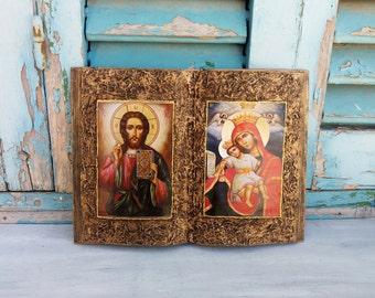 Religious Book,Church Book,Catholic Book,Prayer Book,Christian Book,Book Art,Book Decor,Book Wall Art,Religious Decor,Catholic Wall Hanging