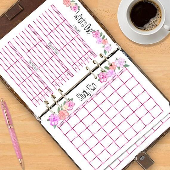 Student Calendar Planner : Academic planner  calendar student printable