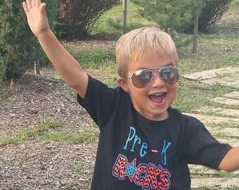 Pre-k rocks, pre- k shirt, first day of school, back to school shirt, Back to school for girls, back to school for boys, school outfit