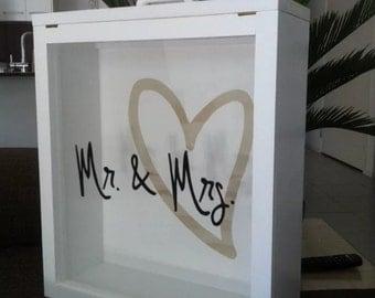 Timber Wedding wishing well & momento keepsake box afterwards