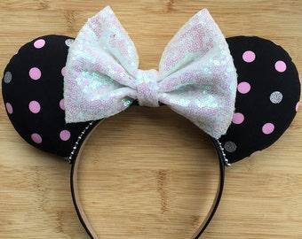 Minnie Mouse Ears, Polka Dot Mouse Ears, Classic Minnie Ears, Minnie Inspired Ears