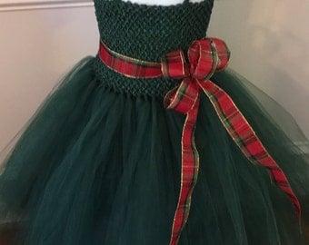 Dark Green Christmas dress